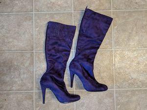 Purple Suede knee high high heel boots for Sale in Glen Burnie, MD