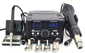 2 IN 1 800W LED Digital Soldering Station Hot Air Gun Rework Station Electric Soldering Iron for Sale in Las Vegas, NV