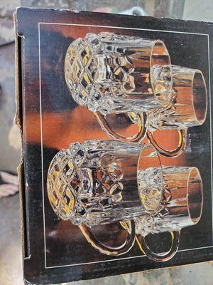 4 crystal vtg glasses for Sale in Phoenix, AZ