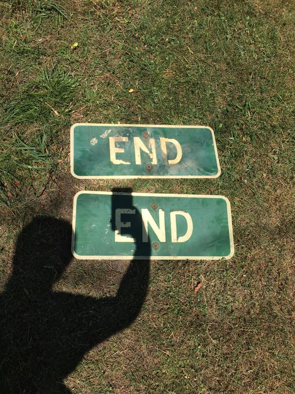 2 End sign