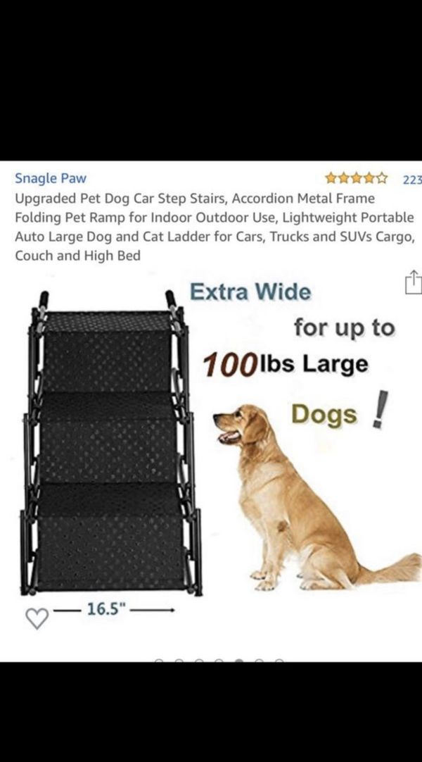 Upgraded Pet Dog Car Step Stairs,