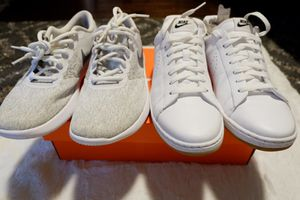 Nike white shoes bundle for Sale in Harrisonburg, VA