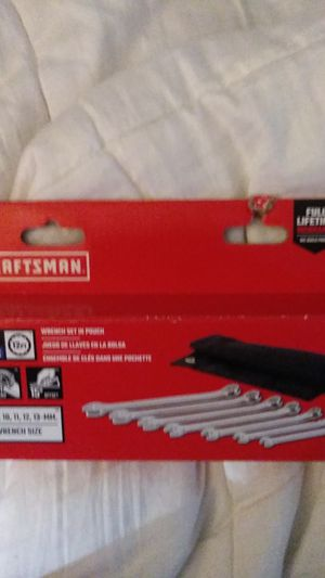 Craftsman 7-piece metric 12-point wrench set in pouch for Sale in Bellmore, NY