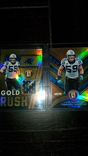 Luke Kuechly Gold Standard SP Cards (2) for Sale in Greer, SC
