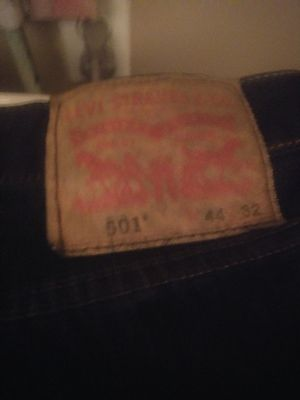 44x32 501 levis button fly dark blue used 3 times for Sale in Los Angeles, CA