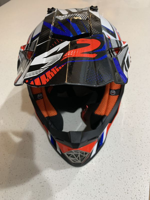 LS2 MX Off-Road Helmet Fast Strong Red/White/Blue Adult Size