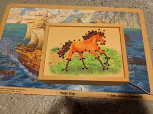 Assorted kids wooden puzzles and games for Sale in Sleepy Hollow, IL