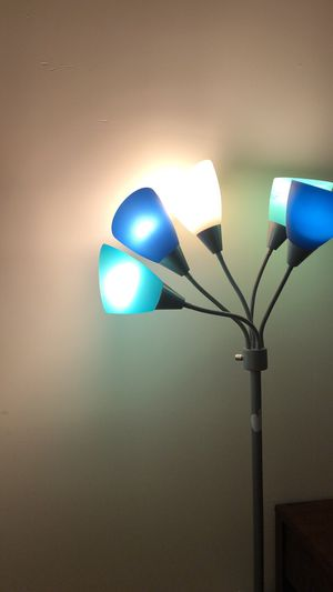 5-head floor lamp blue for Sale in New York, NY