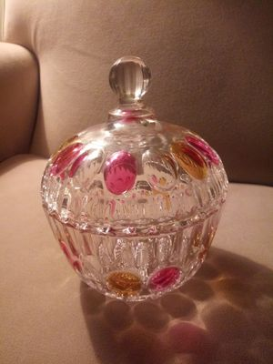 ❤Glass candy jar antique for Sale in Fresno, CA
