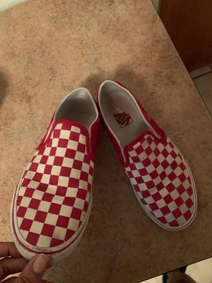 Red and white vans slip one size 8 for Sale in Wichita Falls, TX