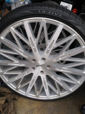 Zenetti off set 22 inch rims and tires for Sale in Los Angeles, CA