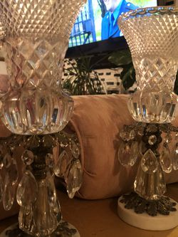 ANTIQUE CRYSTAL AND MARBLE CANDELABRAS $65 for Sale in Long Beach,  CA