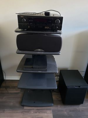 Klipsch sound system with Denon pre-amp for Sale in Newport News, VA
