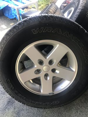 Wheels of a 2014 Jeep Wrangler. for Sale in Wayne, PA