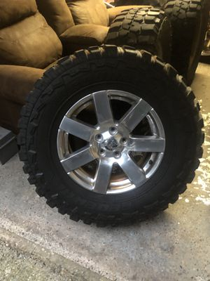 """Jeep wheels and tires 18"""" rims 35"""" tires for Sale in Newportville, PA"""