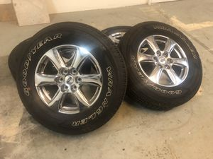 ((Brand-new)) factory stock Ford F-150 18 inch wheels and tires with a good year wrangler 275/65/18 for Sale in Modesto, CA