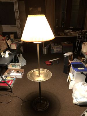 Antique Brass Floor Lamp w/Shelf & 3 Way Switch for Sale in Philadelphia, PA