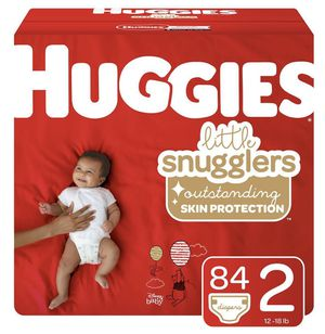 (Size 2) (84 ct) 1 Box Huggies Little Snugglers Diapers! Unopened! for Sale in Chino Hills, CA