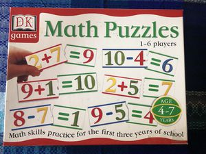 DK Games Math Puzzle for age 4-7 for Sale in Plainfield, IL