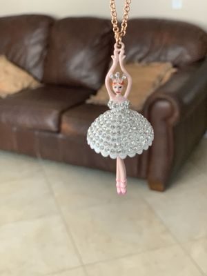 Betsey Johnson long ballerina necklace for Sale in San Diego, CA