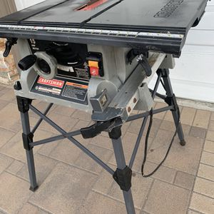 "10"" Craftsman Table Saw With Stand for Sale in Costa Mesa, CA"