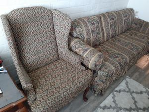 Couch and 2 chairs it's a vintage set in good condition very stable needs to be cleaned for Sale in Columbus, OH