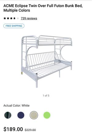 Eclipse bunk bed White and twin mattress for Sale in Sun City, AZ