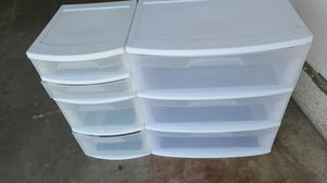 Two Plastic drawers set for Sale in Fontana, CA