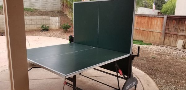 Kettler outdoor table tennis/ping pong table with net