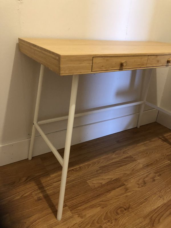 """""""Small Wood Office Desk and College style Chair """""""