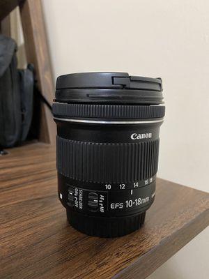 Canon 10-18mm lens for Sale in Snellville, GA