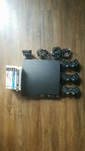 PS3 with 3 controllers and 7 games for Sale in Austin, TX