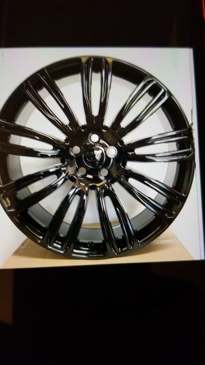 """Range rover gloss blk 22"""" new rims tires set for Sale in Hayward, CA"""