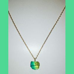 NEW FREEFORM PENDANT ON 30 INCH GOLD CHAIN NECKLACE for Sale in Milton,  FL