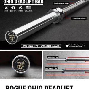 Brand New Rogue Fitness Deadlift Bar for Sale in Claremont, CA