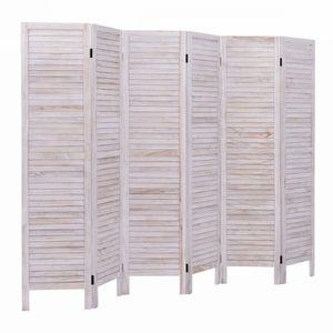 6 Panels Classic Venetian Wooden Slat Room Screen for Sale in Montclair, CA
