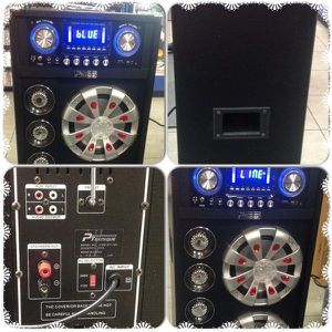 Performance Teknique ICBM-BT110X Dual 10-Inch High Power Speaker with Bluetooth and Big LED Screen Display  for Sale in Puyallup, WA