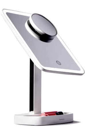 Fancii LED Makeup Vanity Mirror with 3 Light Setting and 15x Magnifying Mirror - Choose Between Soft Warm, Natural Daylight, or Neutral White Lights for Sale in Garland, TX