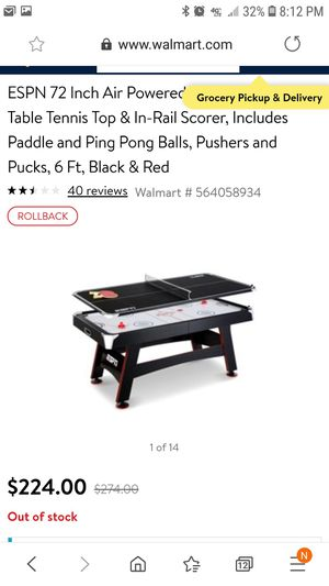 ESPN Air hockey pong pong table. for Sale in Fresno, CA