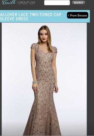 Camille le vie prom dress. Nude lace all over. for Sale in Miami, FL