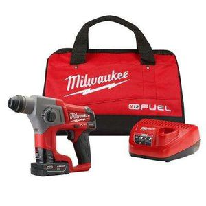 Milwaukee  M12 FUEL 12-Volt Lithium-Ion 5/8 in. Brushless Cordless SDS-Plus Rotary Hammer Kit W/ One 4.0Ah Battery & Bag for Sale in HILLTOP MALL, CA
