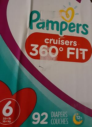 Pampers size 6 cruisers 92 count for Sale in Homewood, IL