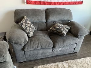 Grey fabric couch + loveseat (super comfy, <1yr old) for Sale in Nashville, TN