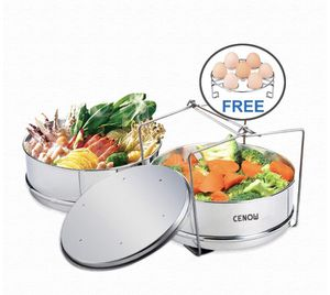 Insert Pan for Instant Pot Accessories, Cenow Instant Pot in Pot Accessories Steamer Basket Set with Egg Steamer Rack Stand, Steamer Insert Fits Inst for Sale in Los Angeles, CA