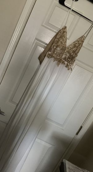 White and Gold gown for Sale in Austin, TX