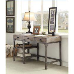 Gorden Desk in Weathered Oak & Grey for Sale in Los Angeles,  CA