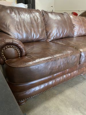 Genuine Leather Sofa by Lane for Sale in Glendale, AZ