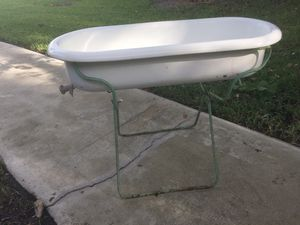 Antique shabby chic baby bath from Hungary- use as a planter or herb garden or fill with ice, wine bottles and beer for a great wedding or baby shower for Sale in Plantation, FL