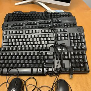 Wired Keyboards And Mice $5 each for Sale in Cape Coral, FL