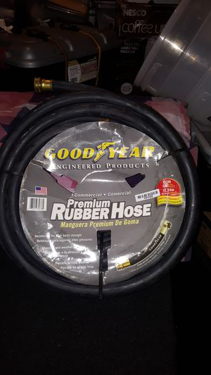 "Goodyear Comercial Premium Rubberhose Crush Proof Garden Water Hose 50 ft, 5/8"" Black for Sale in Silver Spring, MD"